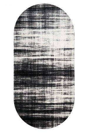 Ковер fiber shaggy 1295а black-d grey