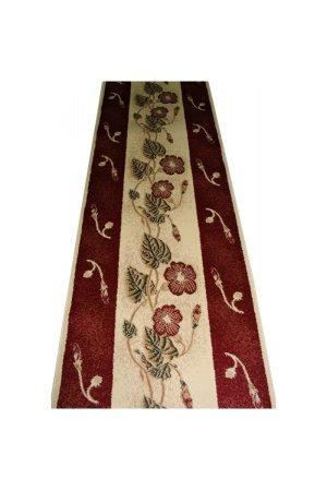 Ковровая дорожка super elmas 1173a ivory-d.red